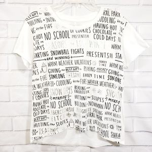 Abercrombie Girls High-low Graphic Shirt.